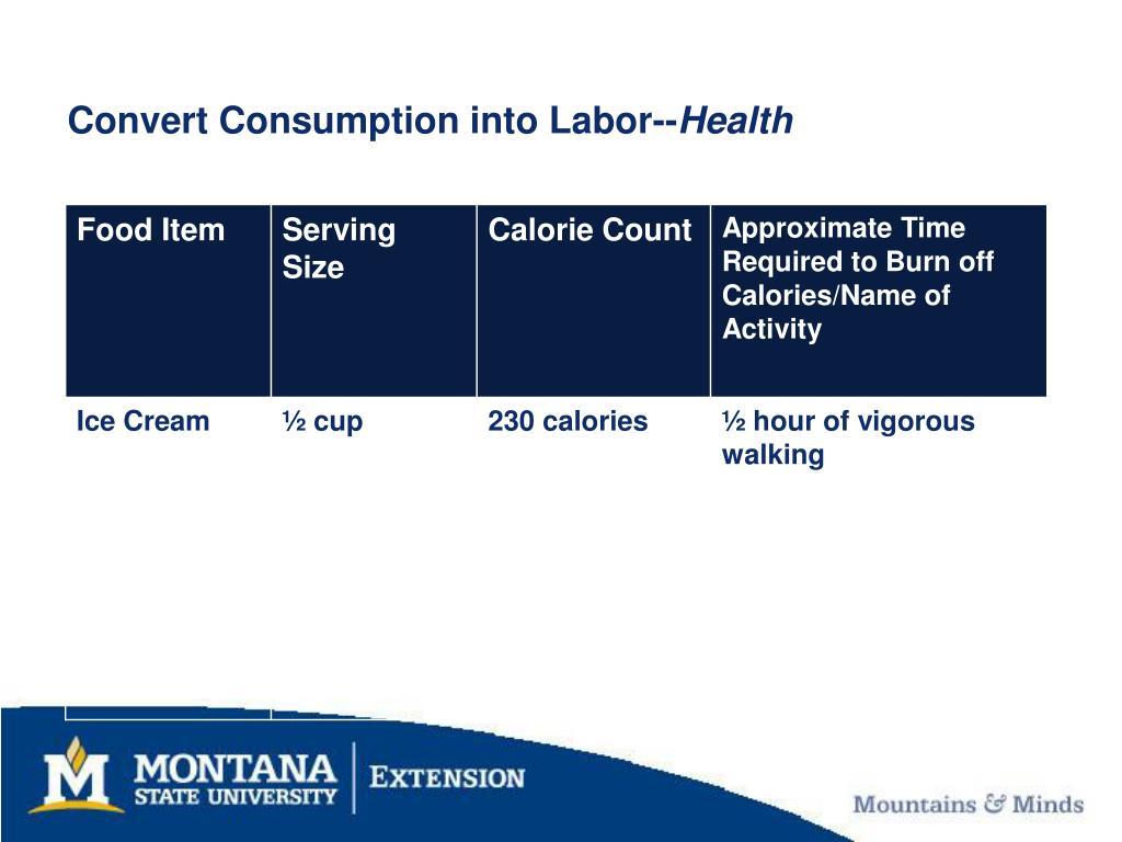 Convert Consumption into Labor--