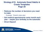 strategy 15 automate good habits create templates page 20