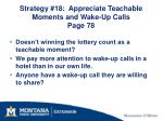 strategy 18 appreciate teachable moments and wake up calls page 78