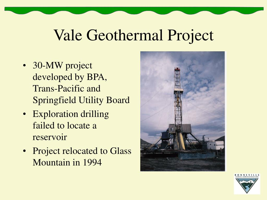 Vale Geothermal Project