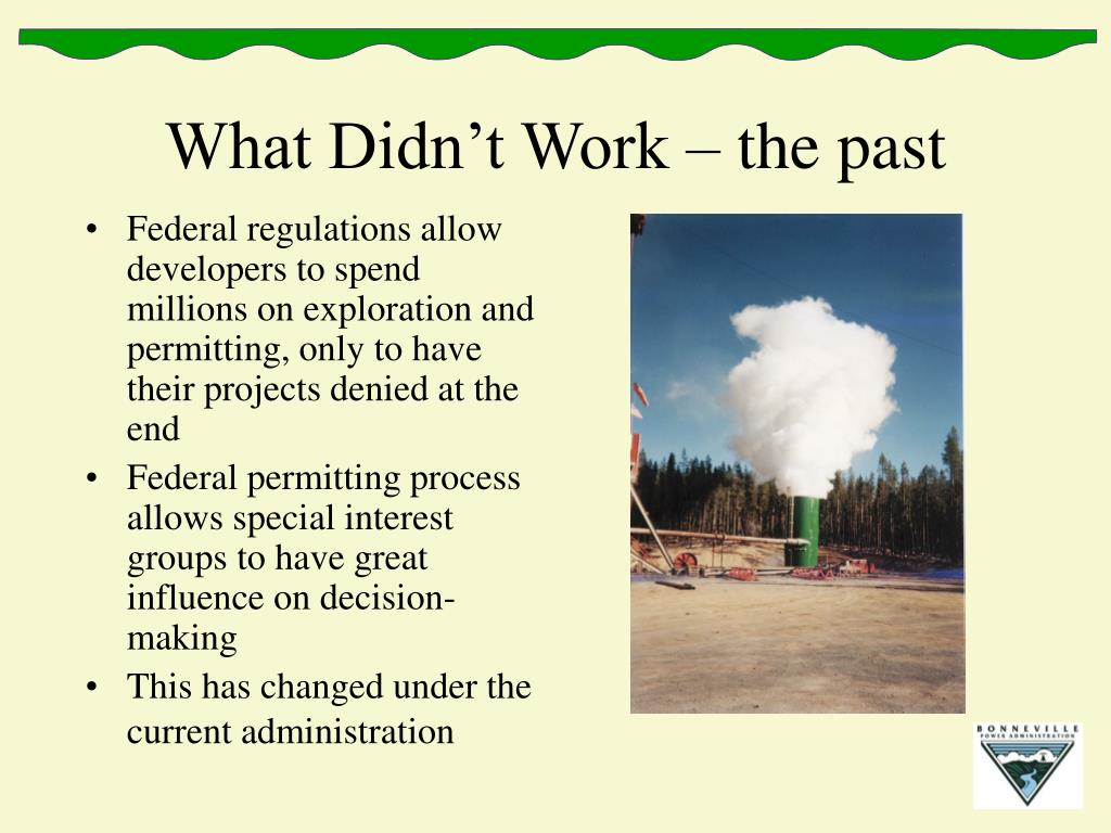 What Didn't Work – the past