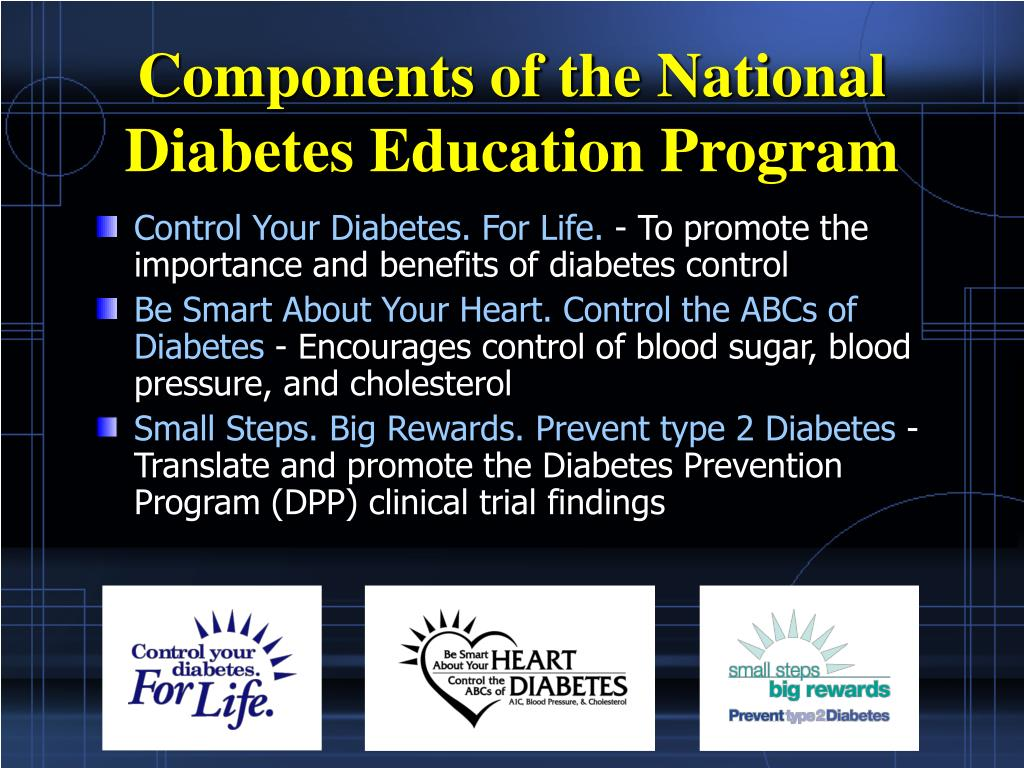 Components of the National Diabetes Education Program