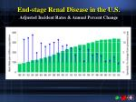 end stage renal disease in the u s adjusted incident rates annual percent change