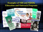 examples of nih and niddk education and outreach programs