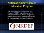 national kidney disease education program