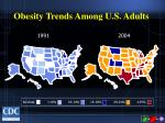 obesity trends among u s adults