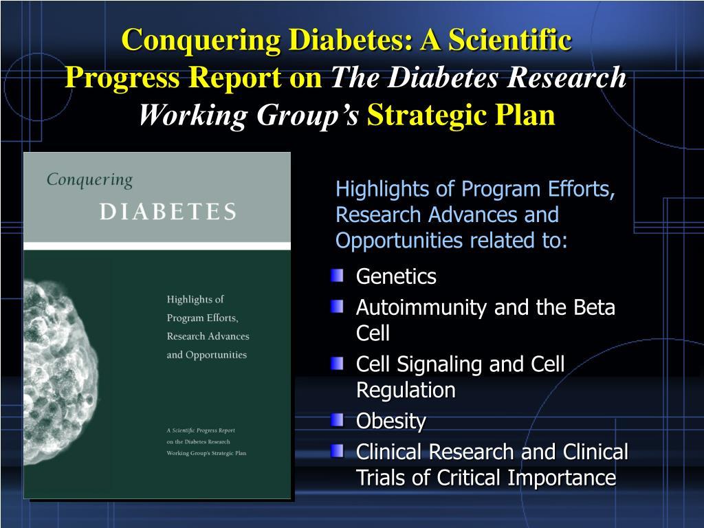 Conquering Diabetes: A Scientific