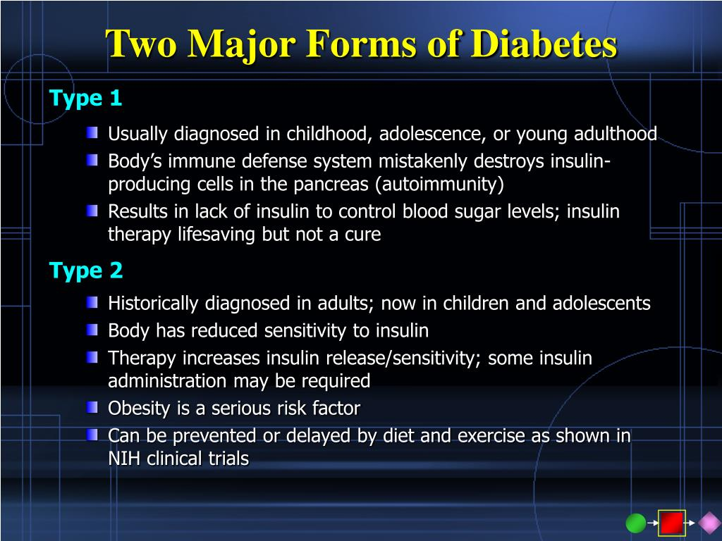 Two Major Forms of Diabetes