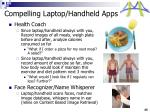 compelling laptop handheld apps