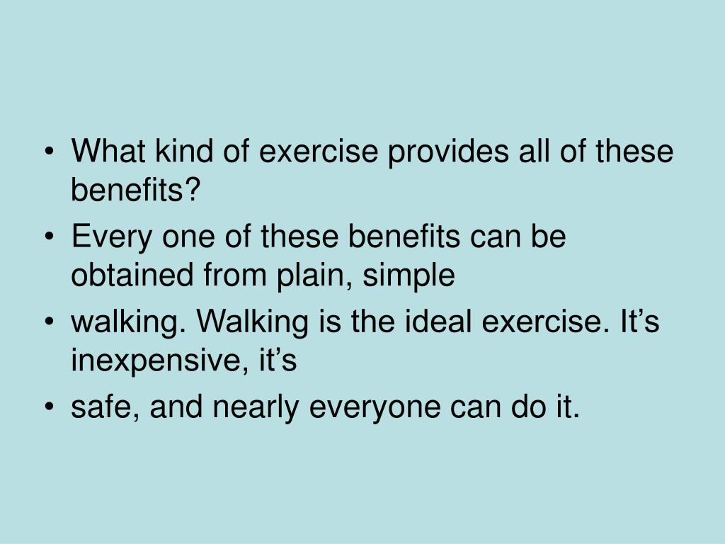 What kind of exercise provides all of these benefits?