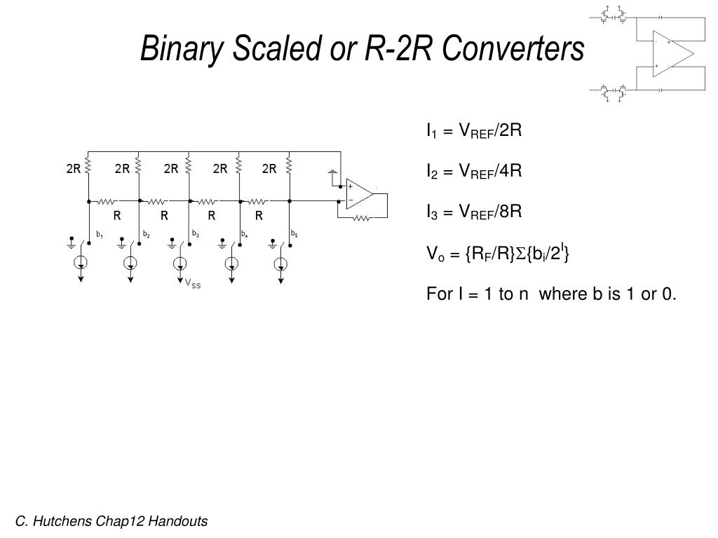 Binary Scaled or R-2R Converters