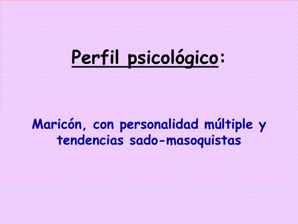 Perfil psicológico