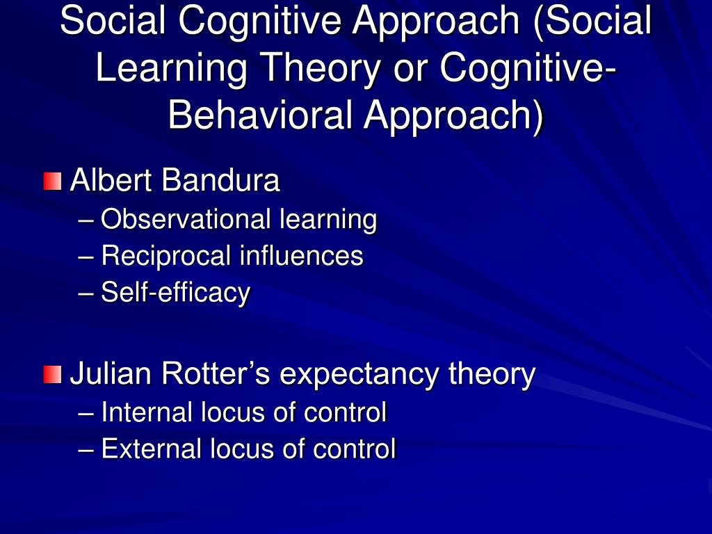 the social learning theory approach