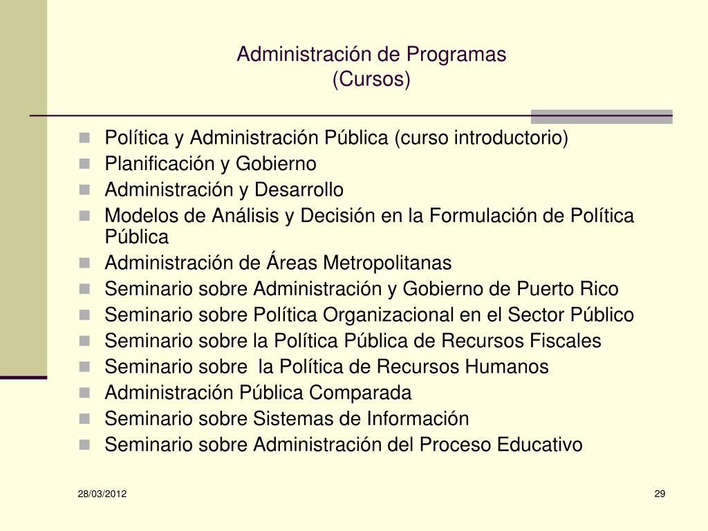 Administración de Programas