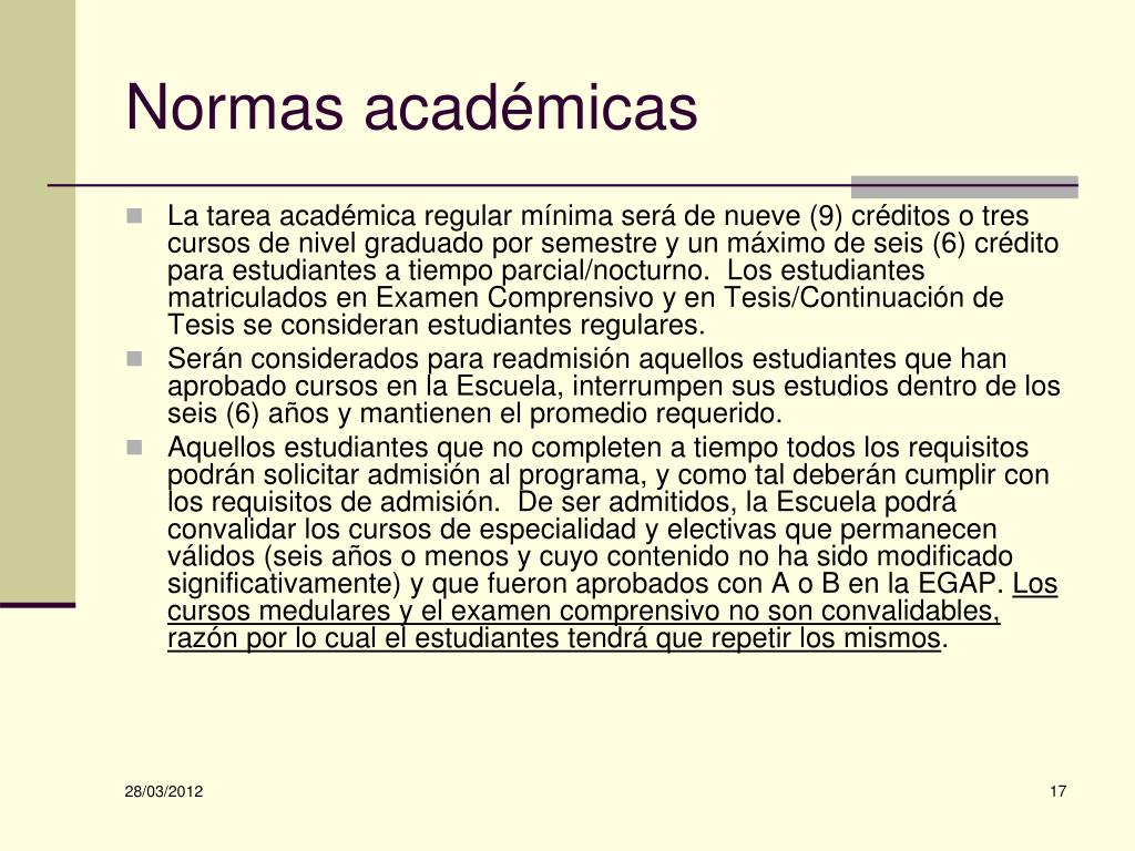 Normas académicas