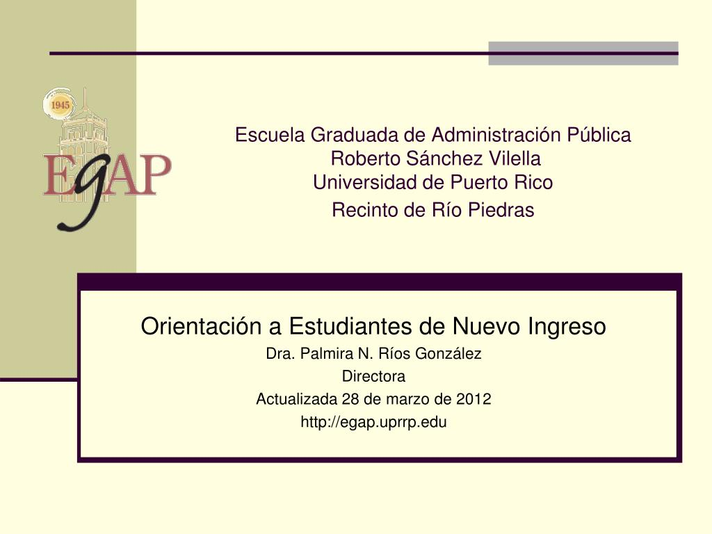 Escuela Graduada de Administración Pública