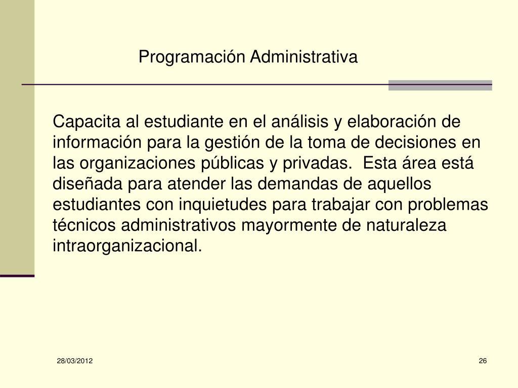 Programación Administrativa