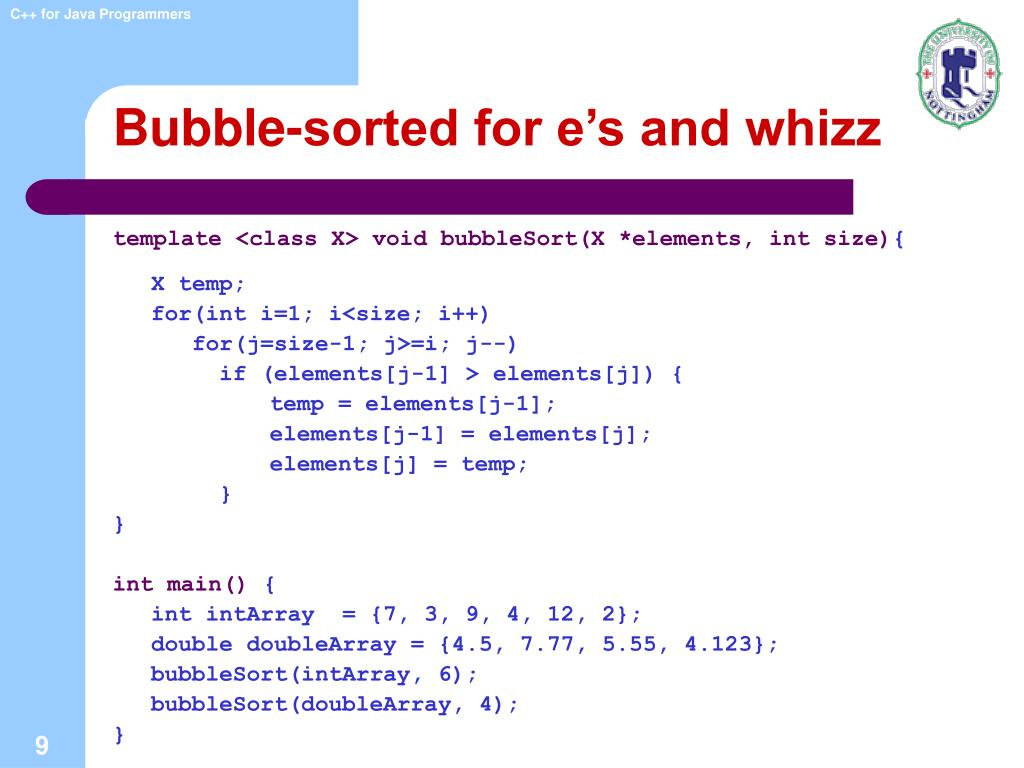 Bubble-sorted for e's and whizz