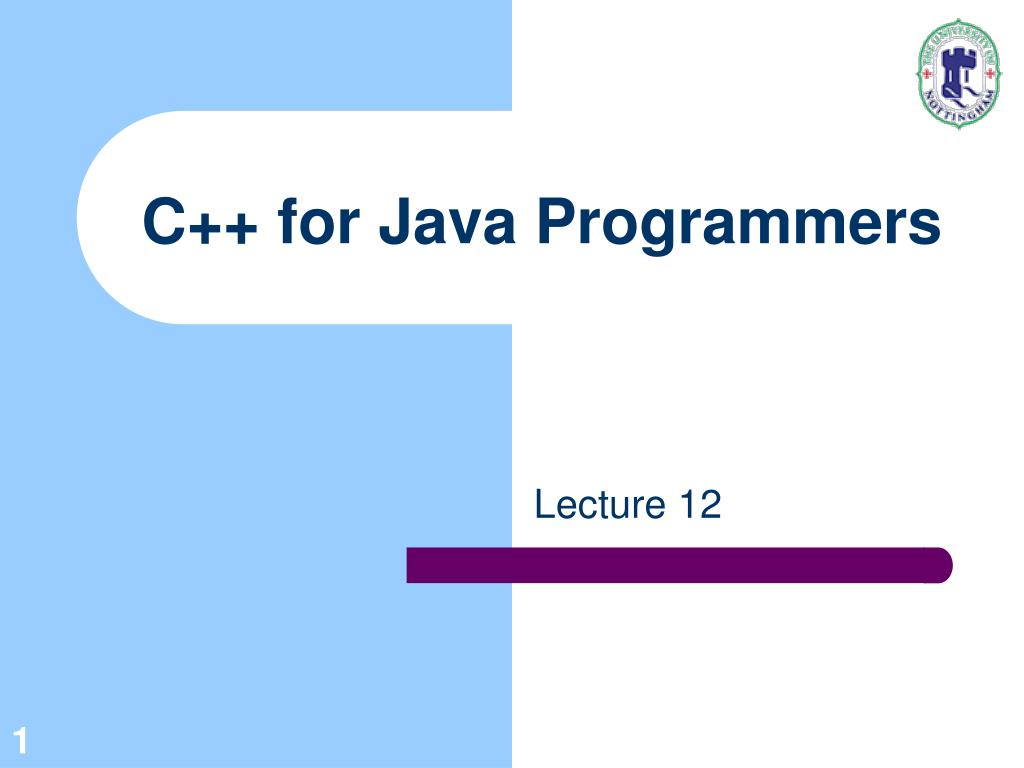 c for java programmers l.
