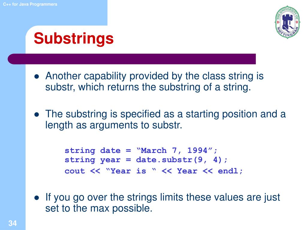 Substrings