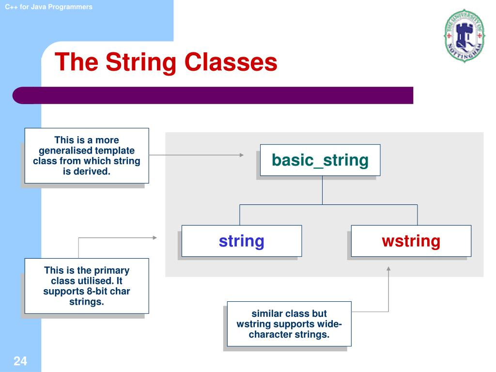 The String Classes