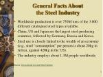 general facts about the steel industry