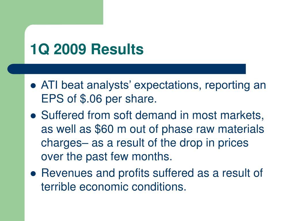 1Q 2009 Results