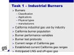 task 1 industrial burners