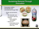 sustaining demand through innovation