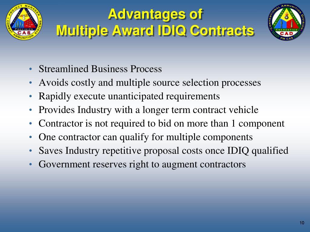 Advantages of
