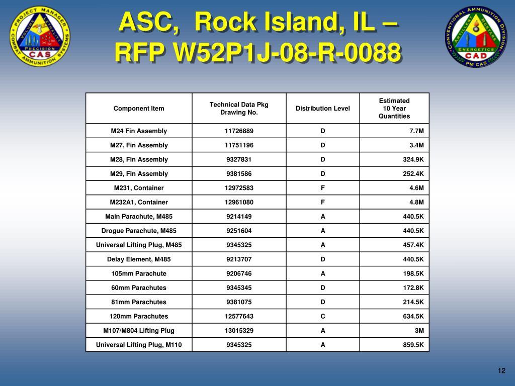 ASC,  Rock Island, IL –