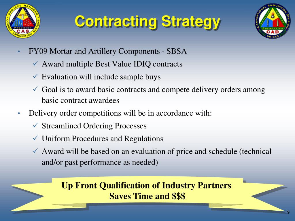 Contracting Strategy