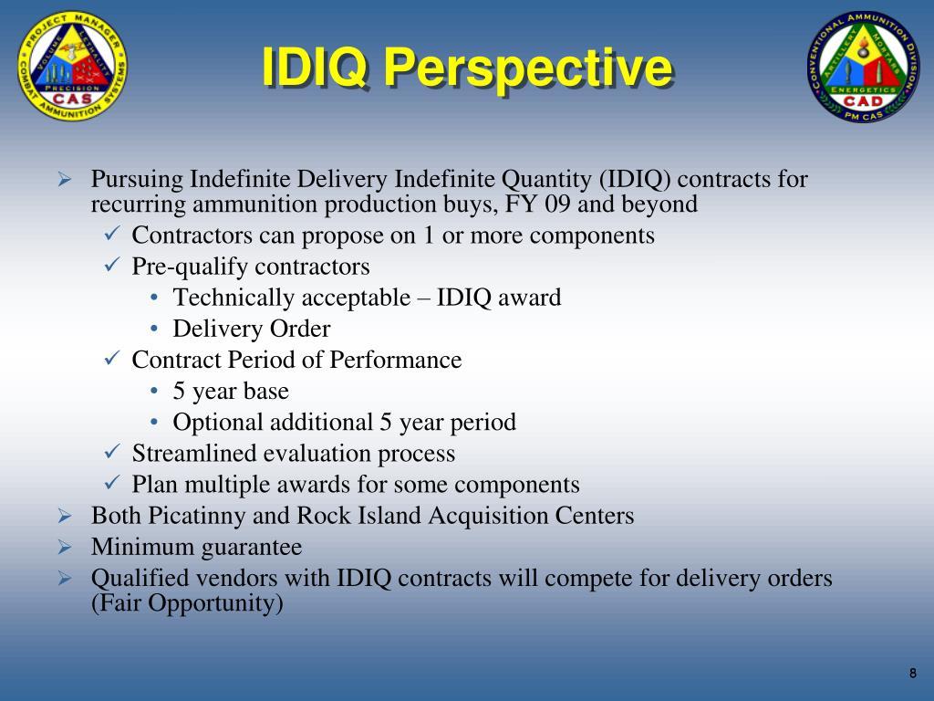 IDIQ Perspective
