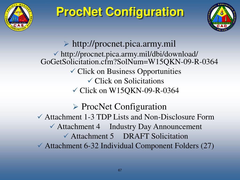 ProcNet Configuration
