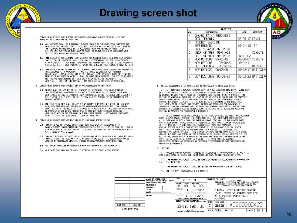 Drawing screen shot