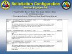 solicitation configuration section b pages 8 9