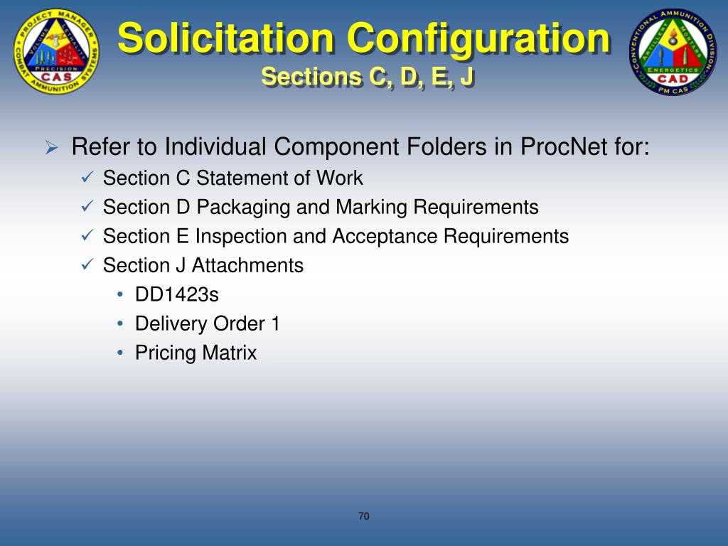 Solicitation Configuration