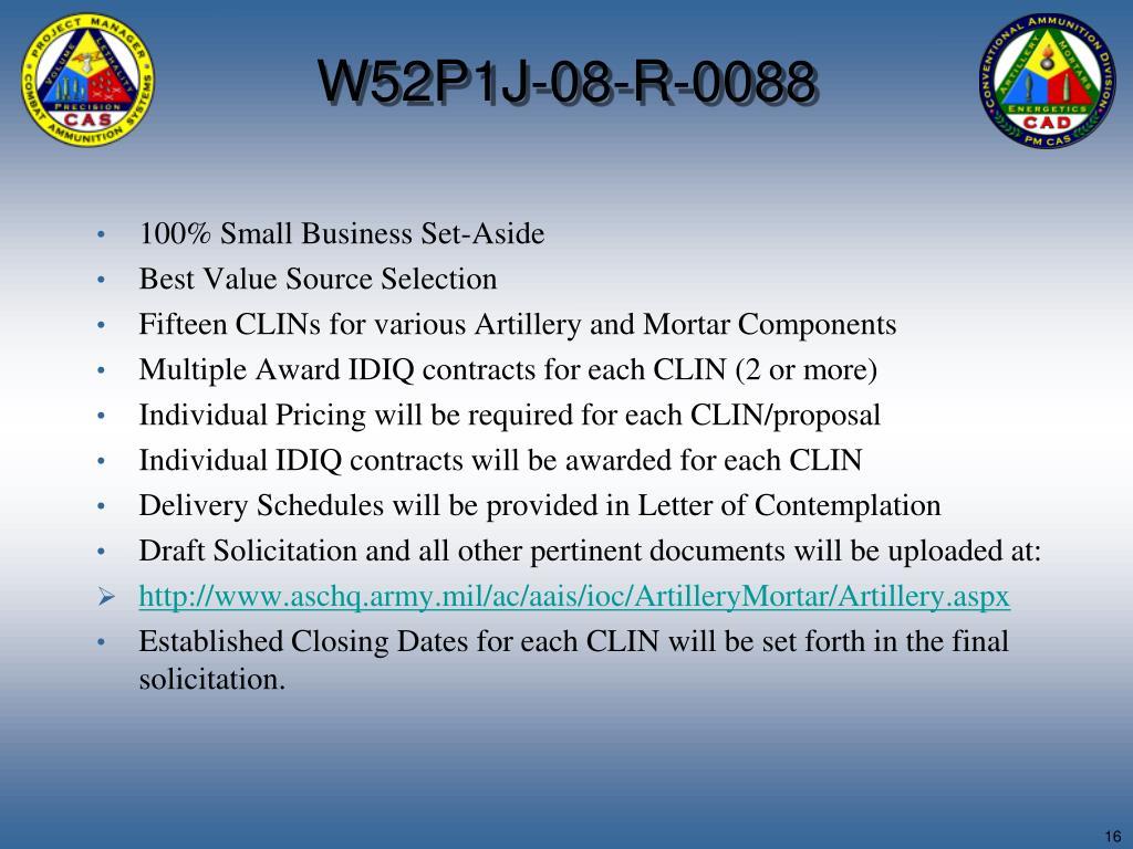 W52P1J-08-R-0088