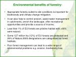 environmental benefits of forestry