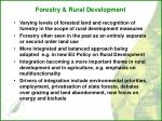 forestry rural development