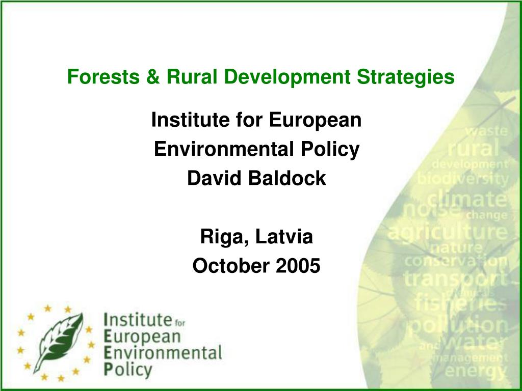 forests rural development strategies