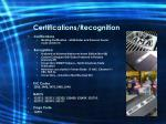 certifications recognition