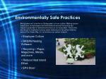 environmentally safe practices