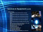 services equipment cont8