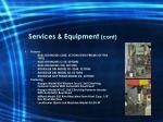 services equipment cont9