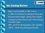 die casting history