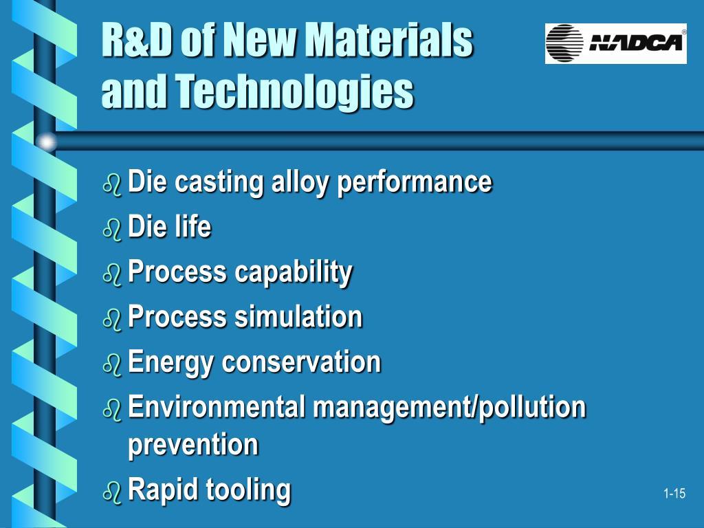 R&D of New Materials