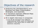 objectives of the research