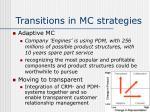 transitions in mc strategies12