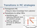 transitions in mc strategies14